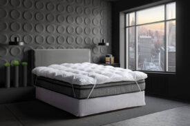 Pillow Top Toque de Pluma Fibras Siliconadas